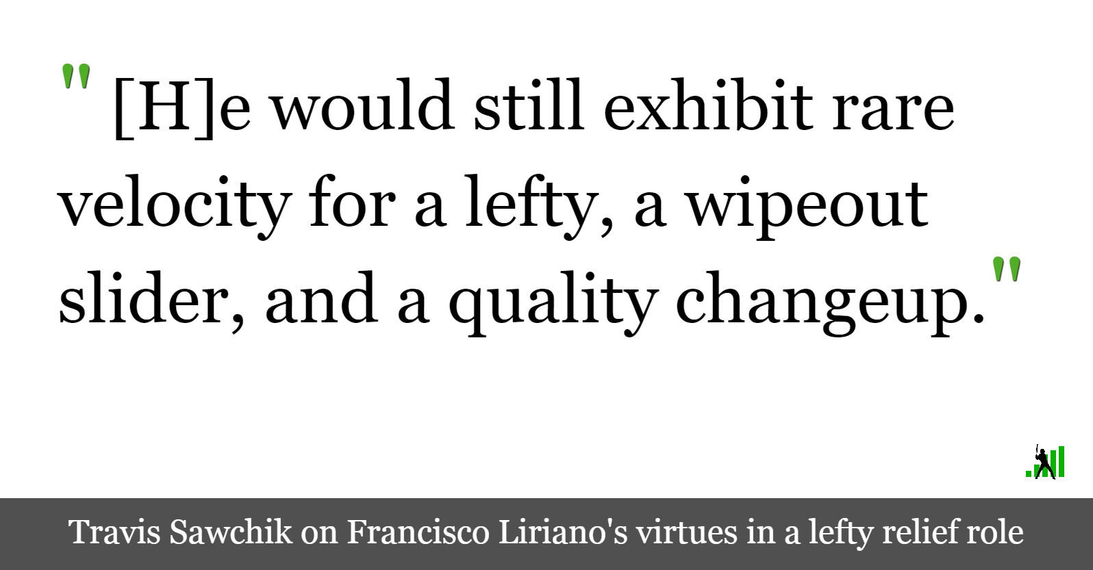 Francisco Liriano: A Left-Handed Relief Option | FanGraphs