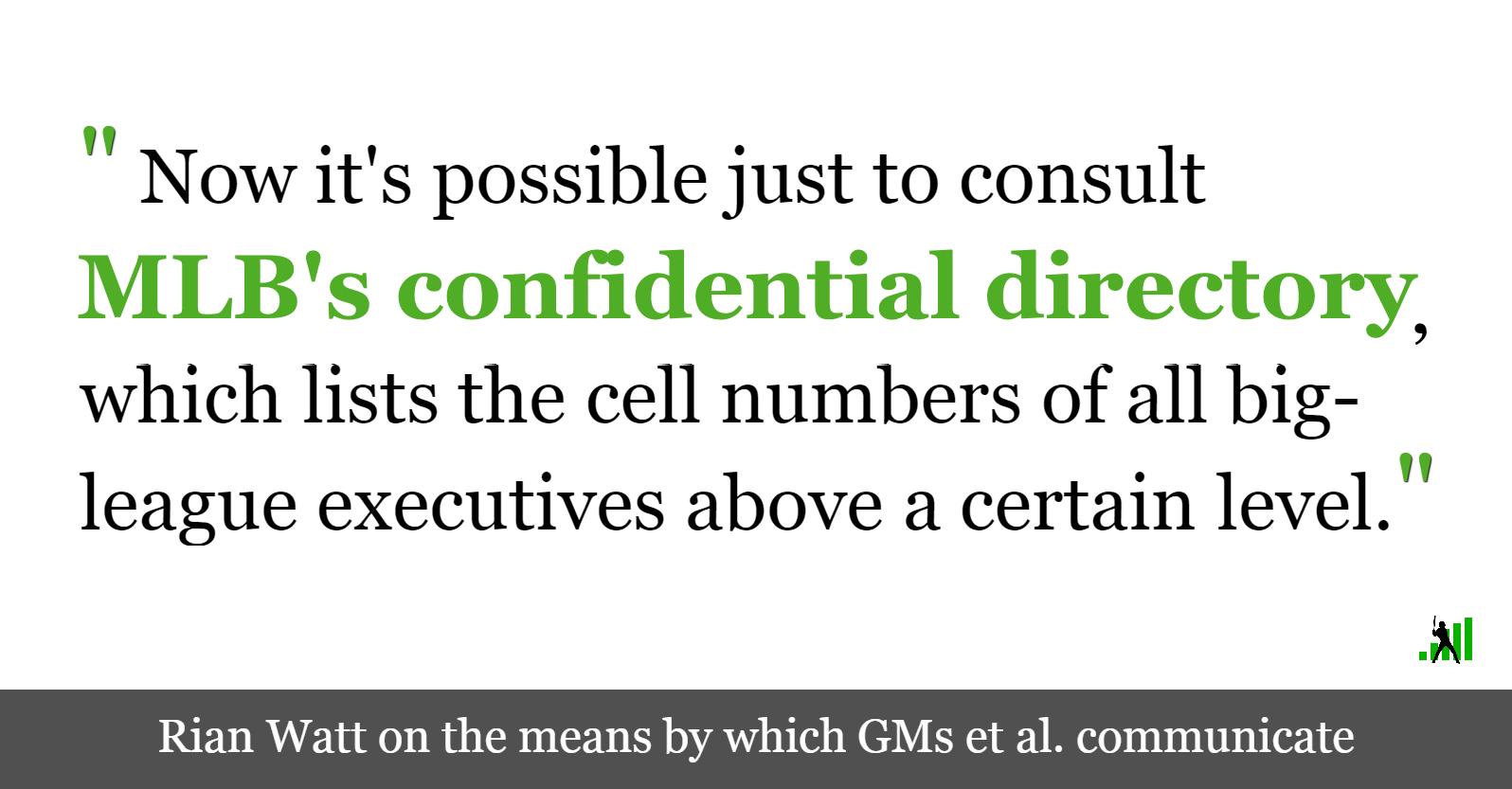 How GMs Talk Amongst Themselves   FanGraphs Baseball