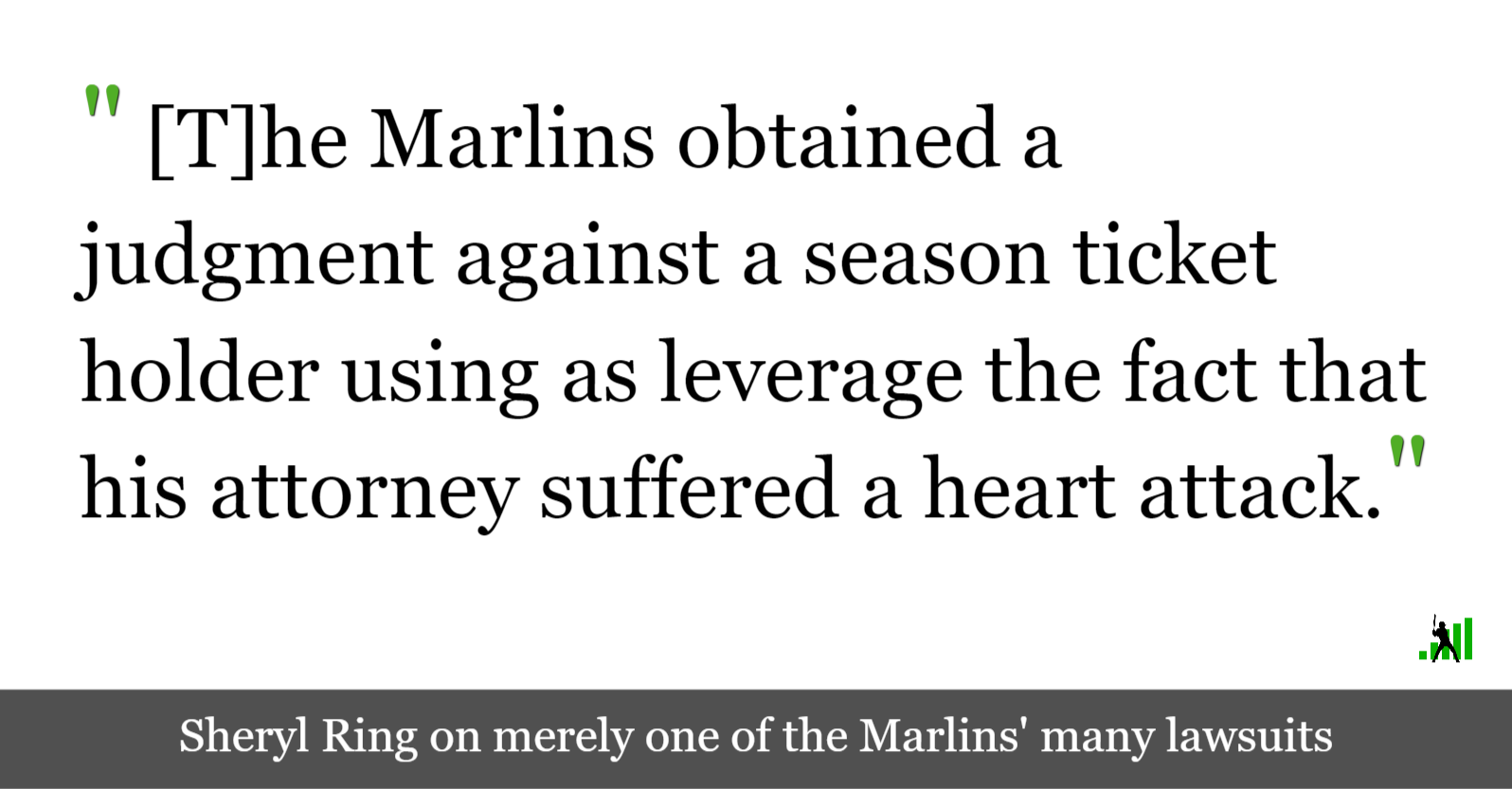 The Marlins Will Sue Almost Anyone | FanGraphs Baseball