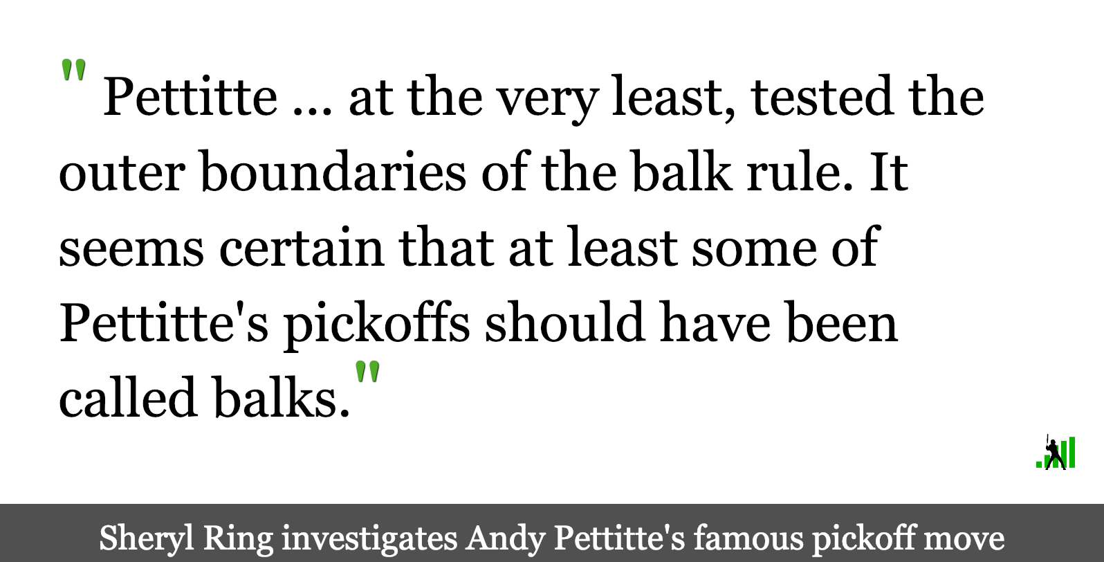 On Andy Pettitte's Pickoff Move   FanGraphs Baseball