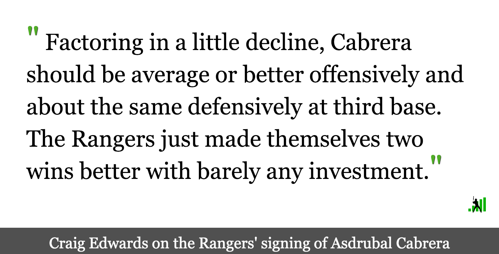 Asdrubal Cabrera Can't Find Deal with Contending Team, Signs with Rangers