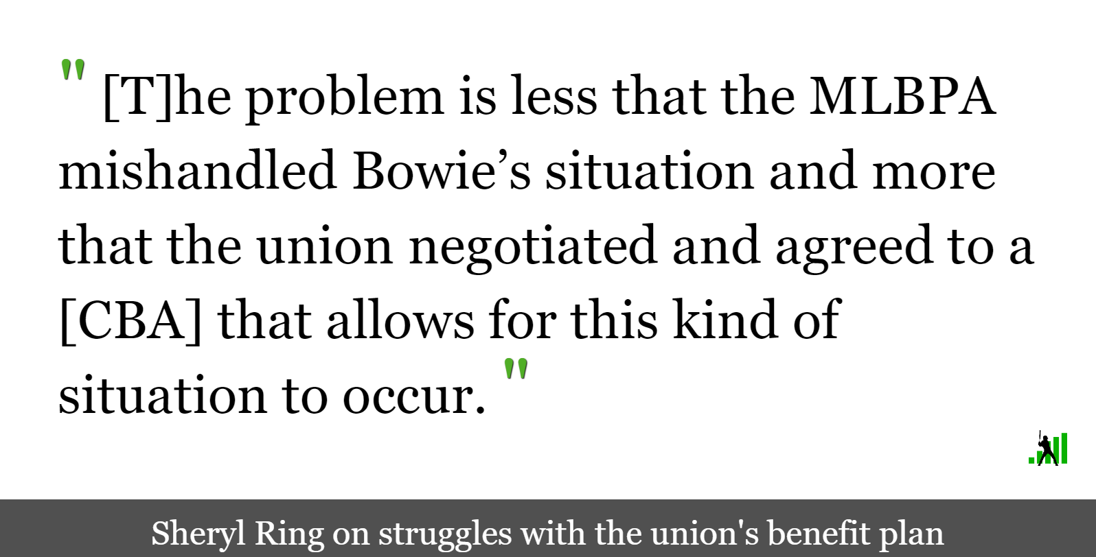 Micah Bowie, Player Benefits, and Another Front in Labor's Fight
