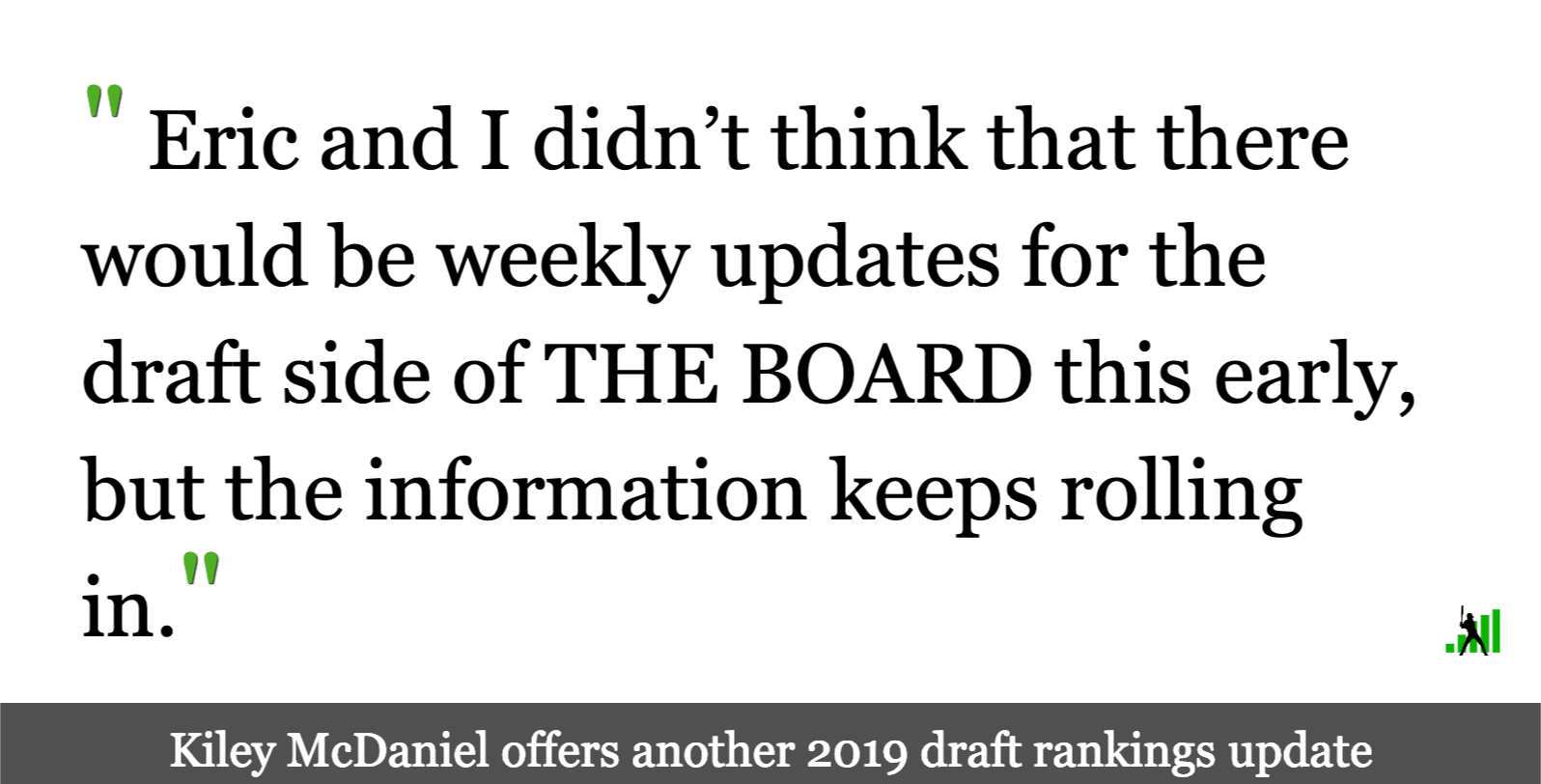 More 2019 Draft Rankings Updates | FanGraphs Baseball