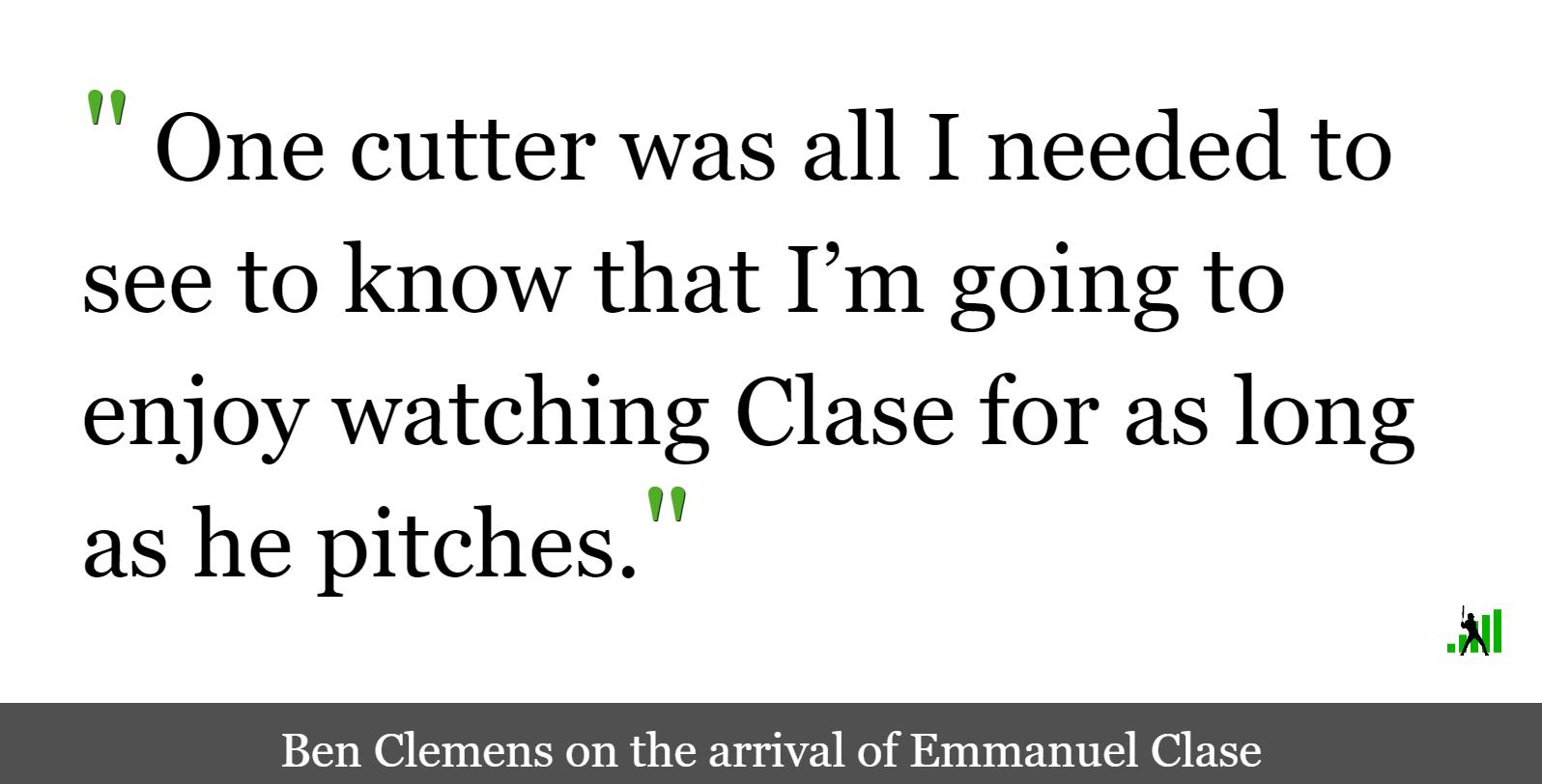 Emmanuel Clase is Wondrous   FanGraphs Baseball