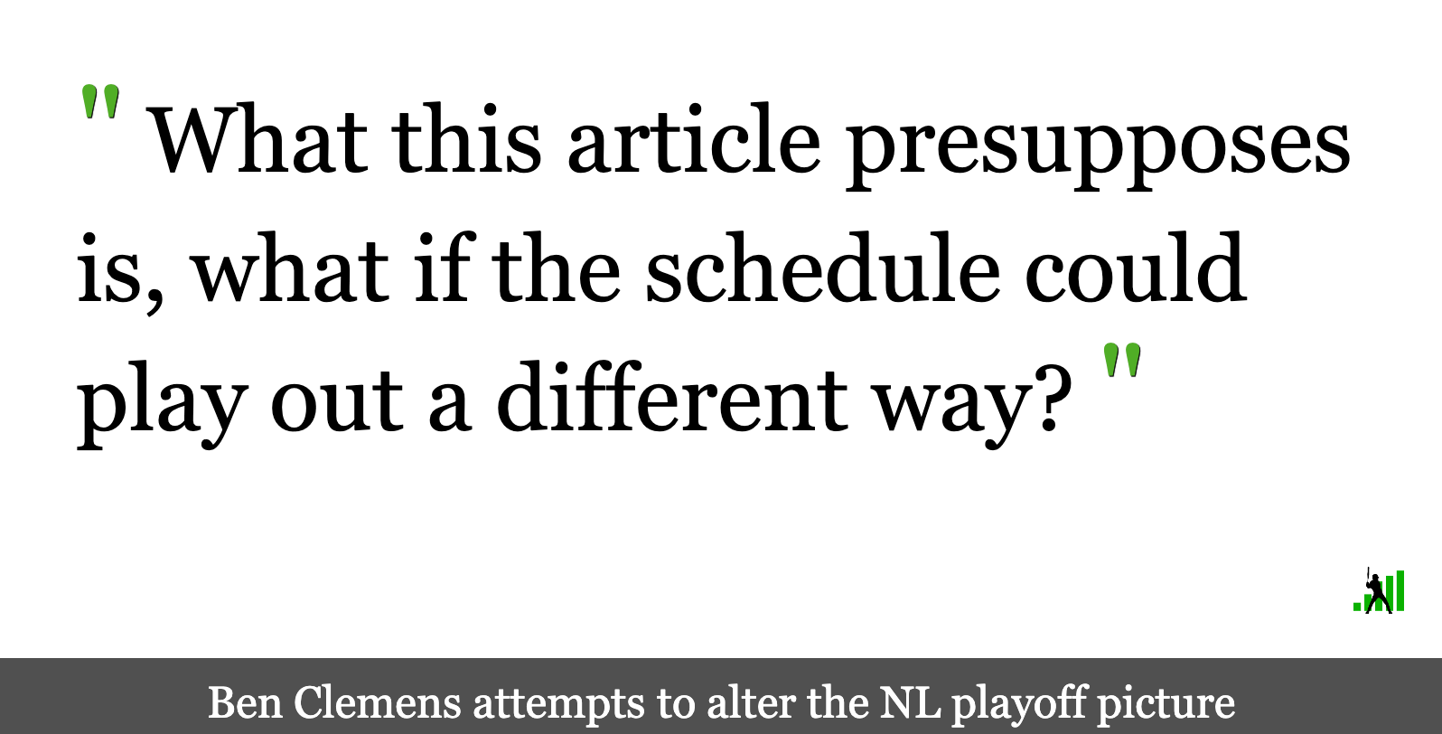 Fun With Alternate Playoff Realities