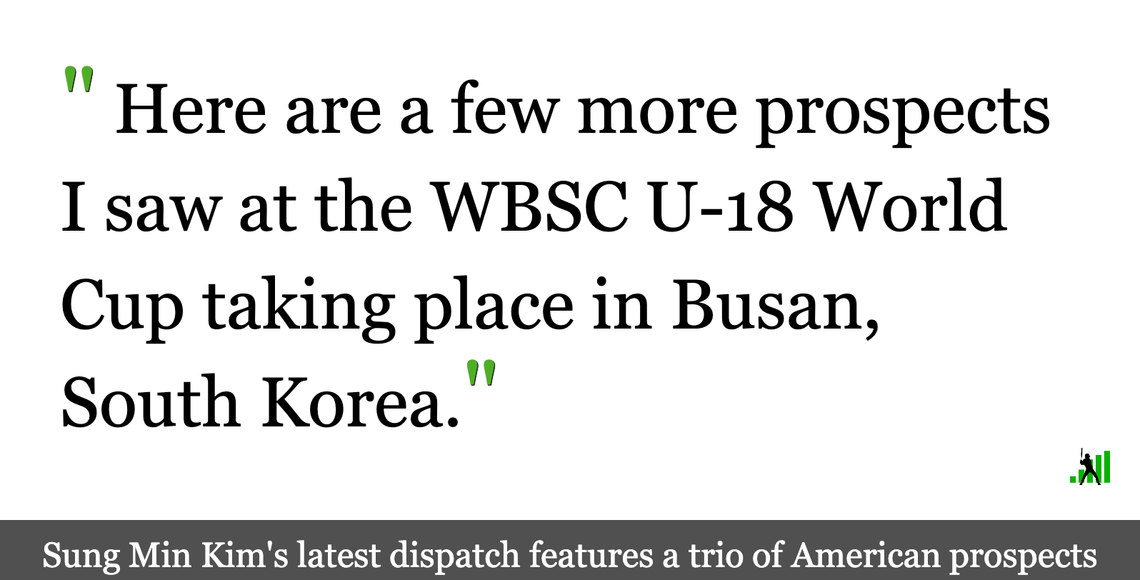 A Dispatch From Day Five of the WBSC U-18 World Cup