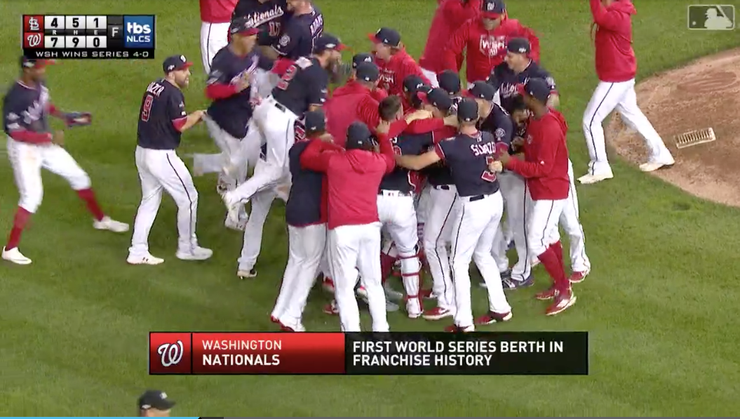 Nationals Sweep Cardinals for First Pennant in Franchise History