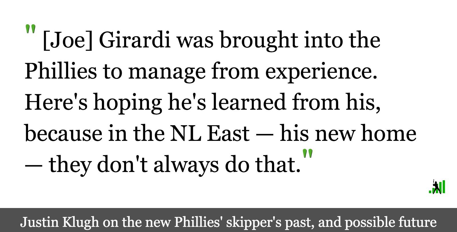 Joe Girardi Gets a Fresh Start in a Shifting NL East