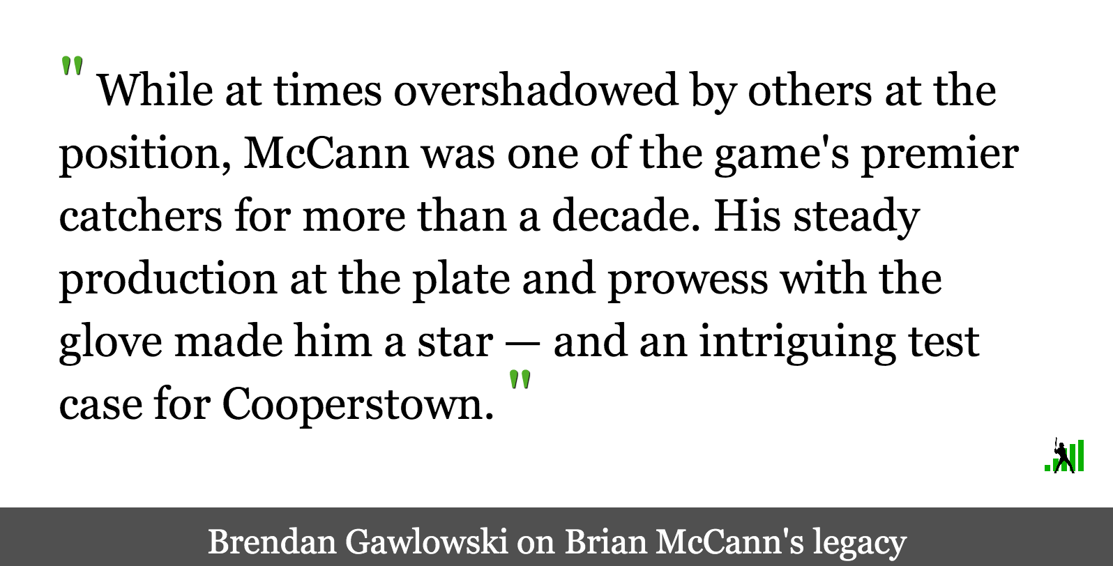 Brian McCann's Great Career and Fascinating Hall of Fame Case