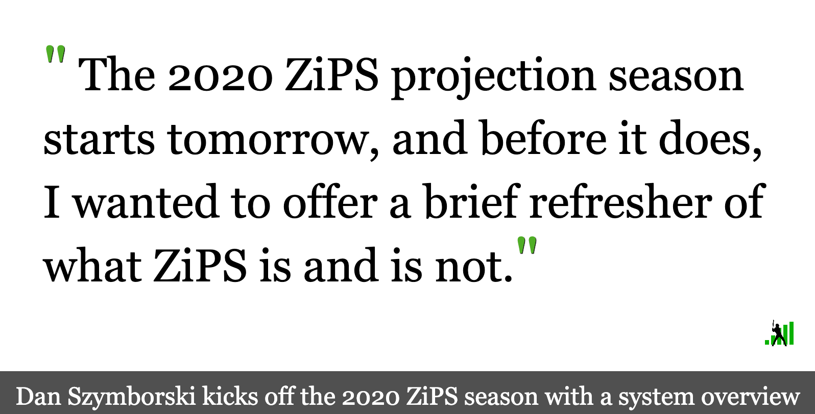 The 2020 ZiPS Projections