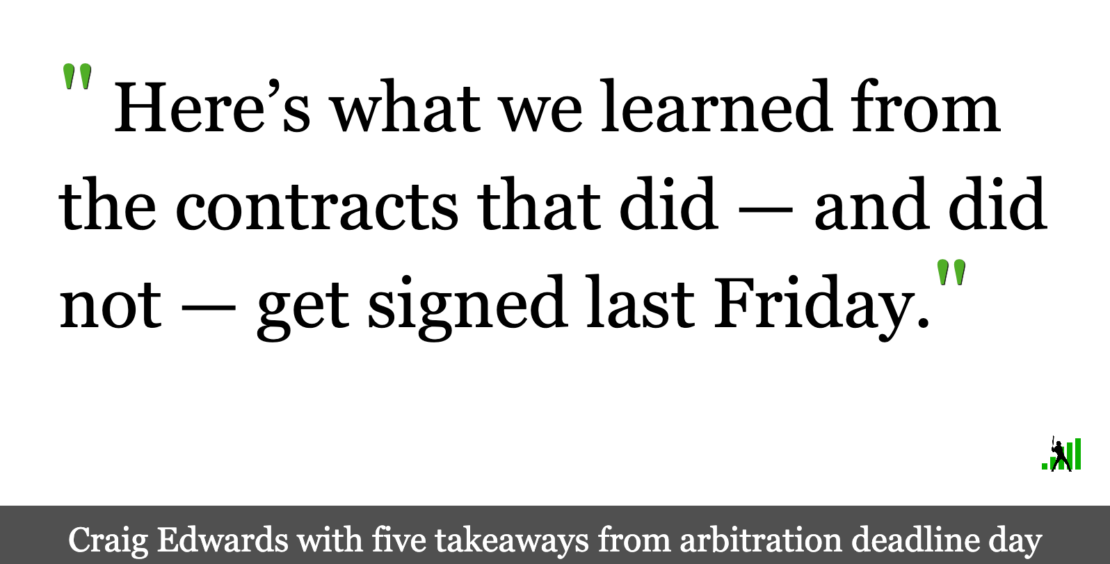 Five Things We Learned from Arbitration Deadline Day