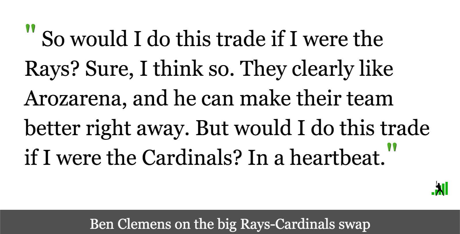 Rays and Cardinals Go Back to the Well