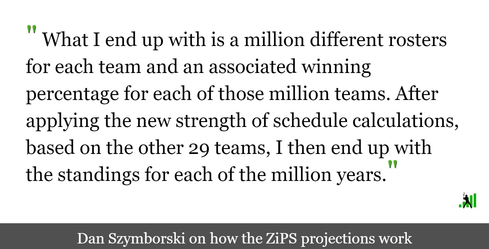 The Obscenely Early ZiPS Projected Standings