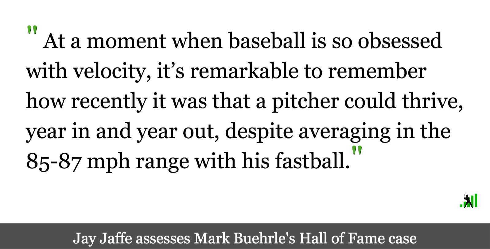 JAWS and the 2021 Hall of Fame Ballot: Mark Buehrle