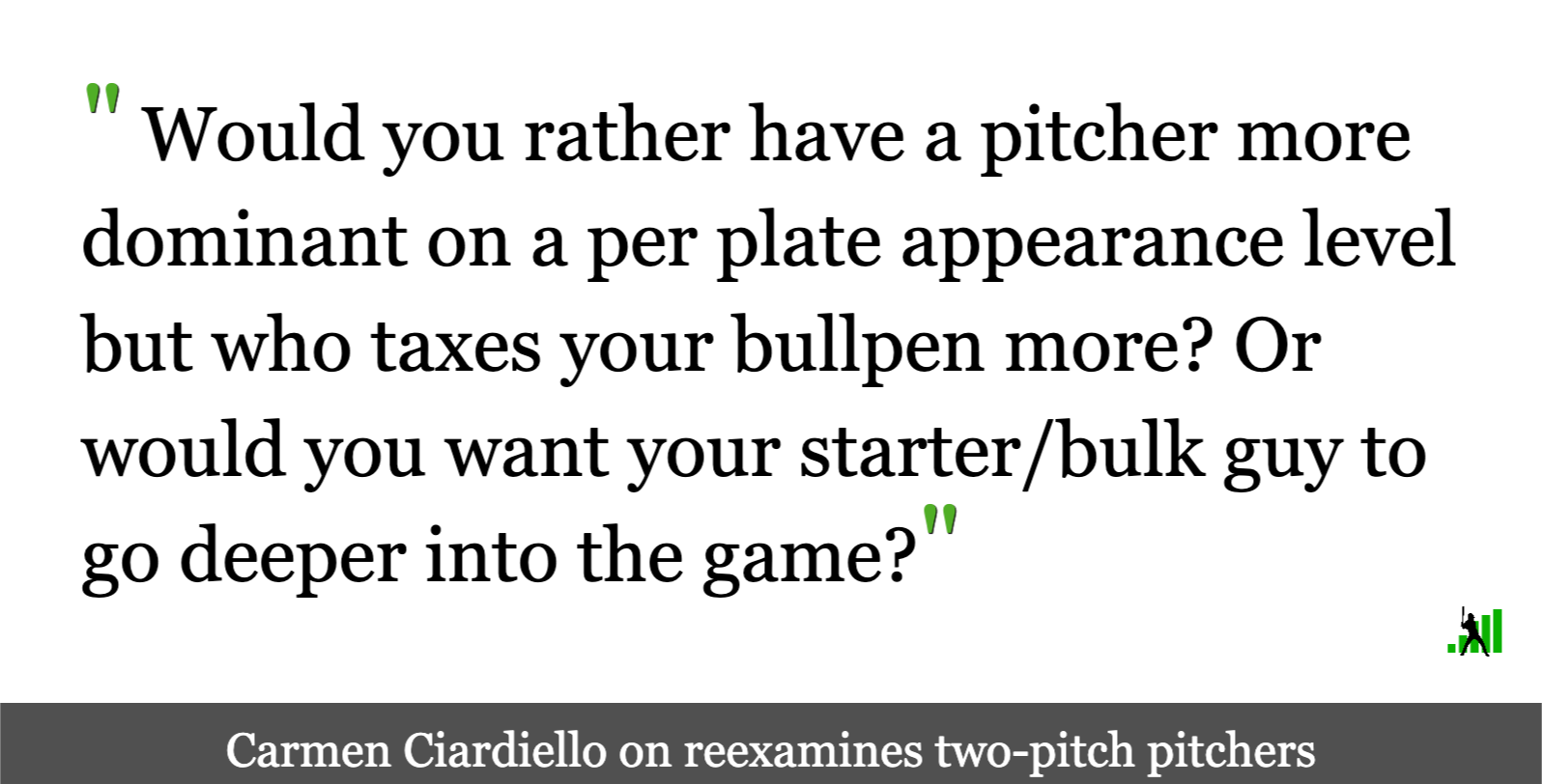 Evaluating Two-Pitch Pitchers